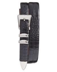 Torino Belts Alligator Embossed Leather Belt