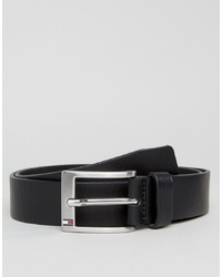 Tommy Hilfiger Aly Leather Belt In Black