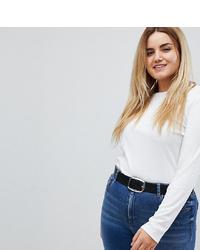Asos Curve Asos Design Curve Leather Jeans Belt