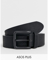 ASOS DESIGN Asos Plus Wide Belt In Faux Leather With Black