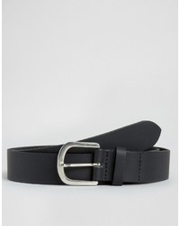 Asos Smart Leather Belt With Horseshoe Buckle