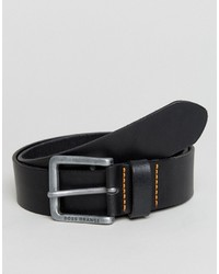 Boss Orange By Hugo Boss Leather Belt Black