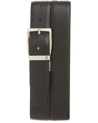 Canali Calfskin Leather Reversible Belt
