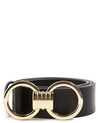 Topshop Circle Buckle Faux Leather Belt