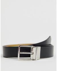Paul Smith Classic Stripe Reversible Belt In Multiblack