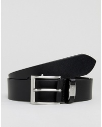 BOSS Connio Leather Logo Keeper Belt In Black
