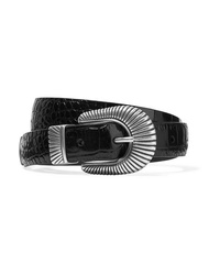 Anderson's Croc Effect Leather Belt