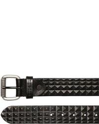 Diesel 40mm Pyramid Embossed Leather Belt