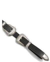Topshop Double Buckle Faux Leather Belt