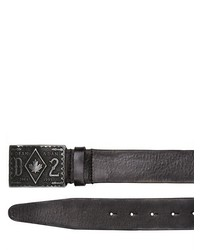 DSquared 4cm Vintaged Leather Belt