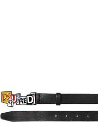 DSQUARED2 25mm Enameled Logo Buckle Leather Belt