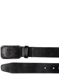 DSQUARED2 35mm Logo Embossed Buckle Leather Belt