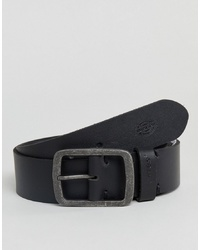Dickies Eagle Lake Leather Belt In Black