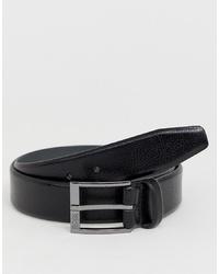 BOSS Elloy Leather Belt In Black