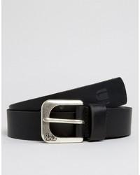G Star G Star Leather Belt In Black