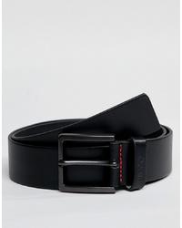Hugo Gionio Leather Belt In Black