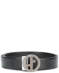 Giorgio Armani Reversible Monogram Buckle Belt