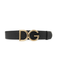 Dolce & Gabbana Gold Plated Textured Leather Belt