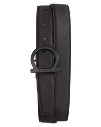 Salvatore Ferragamo Gropp Nubuck Belt