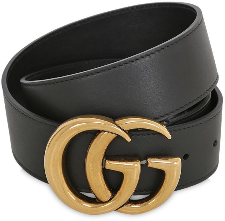 bastante agradable bb5c2 85f3e $420, Gucci 40mm Gg Buckle Leather Belt