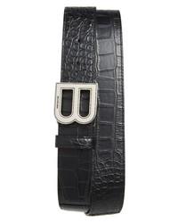 Balenciaga Hourglass Logo Leather Belt