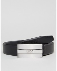 Hugo Boss Hugo By Leather Baxter Belt In Black