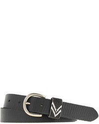 J.Crew Leather Beaded Belt