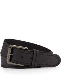 Will Leather Goods Leather Jean Belt Black