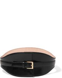 Alexander McQueen Leather Waist Belt Black