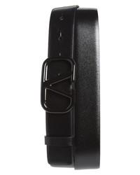 Valentino Logo Leather Belt