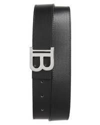Balmain Logo Leather Belt