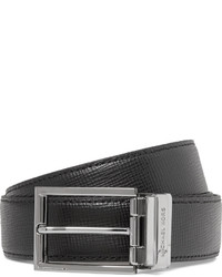 Michael Kors Michl Kors 3cm Black Reversible Grained Leather Belt