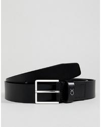 Calvin Klein Mino Leather Belt In Black