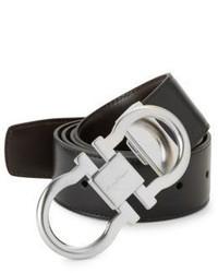 Salvatore Ferragamo Nero Leather Belt