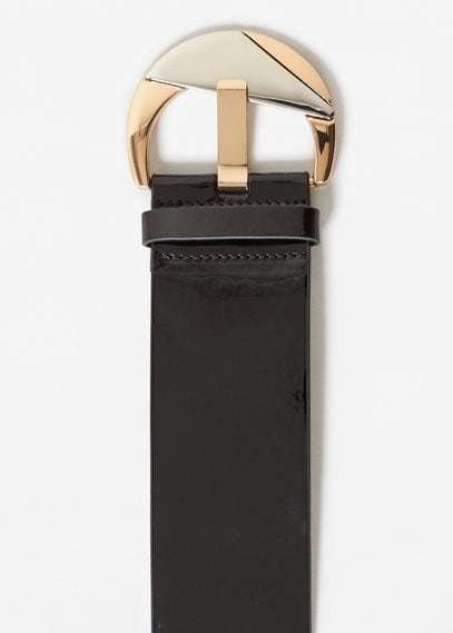 Mango Patent Leather Sash Belt