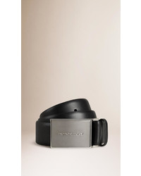 Burberry Plaque Buckle Leather Belt