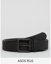 Asos Plus Wide Belt In Faux Leather With Black Coated Buckle