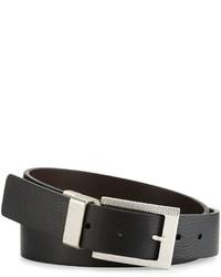 Robert Graham Posner Reversible Faux Leather Belt Black