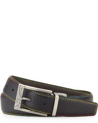 Robert Graham Reversible Embossed Leather Belt Black