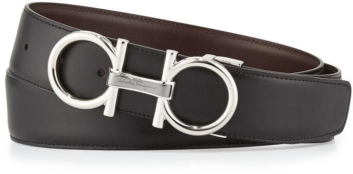 9825bb1a8e ... Salvatore Ferragamo Reversible Leather Belt Blackchocolate ...