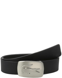 Lacoste Spw Leather Belt Metal Croc Buckle Plate