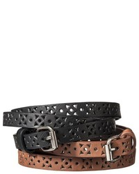 Mossimo Supply Co Narrow Perfortd Belts Set Of 2 Black Brown Supply Co