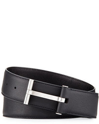 Tom Ford T Buckle Calf Leather Belt