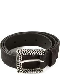 Diesel Textured Leather Belt