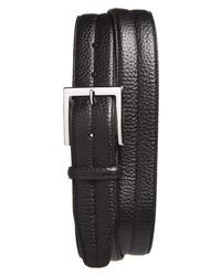 Canali Tumbled Calfskin Leather Belt