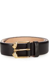 Alexander McQueen Twin Skull Leather Belt