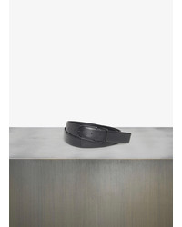 Vince Feather Edge Leather Belt With Thin Wire Buckle