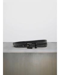 Vince Skinny Leather Belt