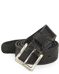 Will Leather Goods Skinny Skiver Leather Belt