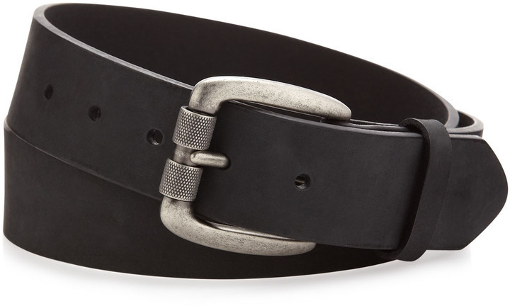 Will Leather Goods Will Leathergoods Distressed Leather Belt Black